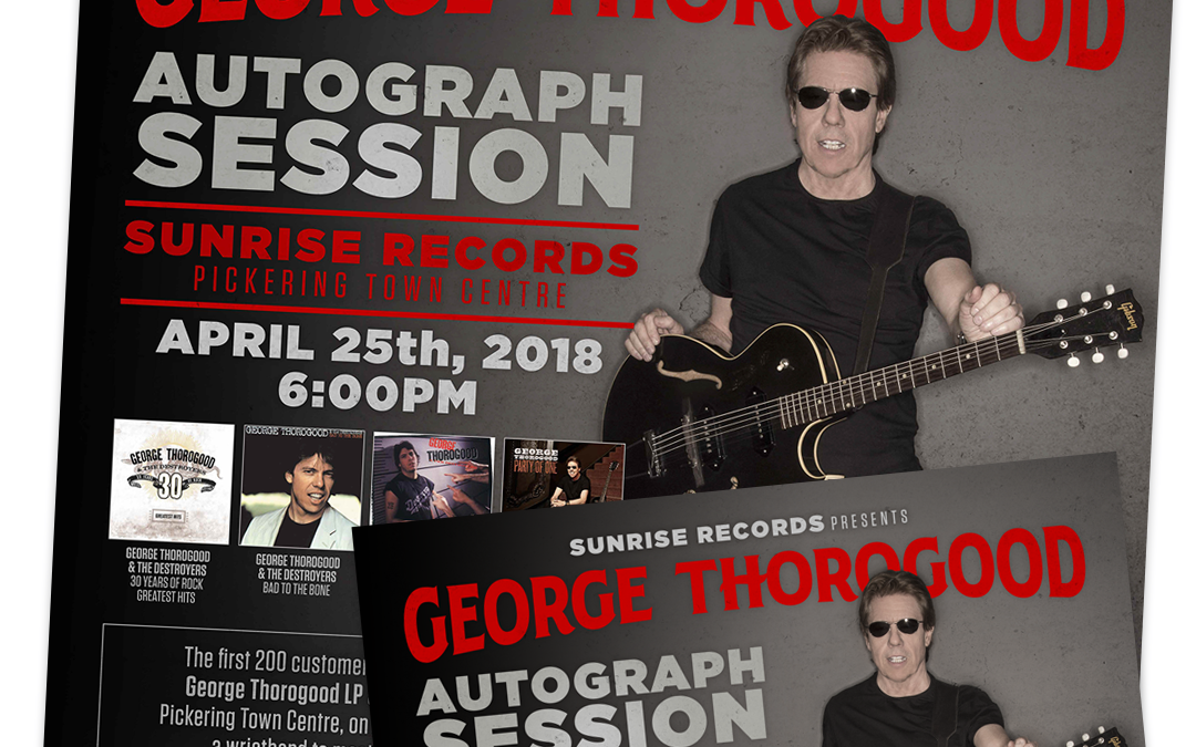 George Thorogood – In Store Materials