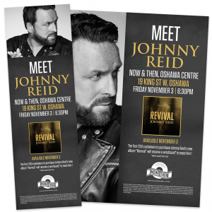 Johnny Reid – In Store Materials